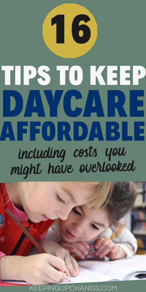 ways to cut costs of childcare and daycare alternatives