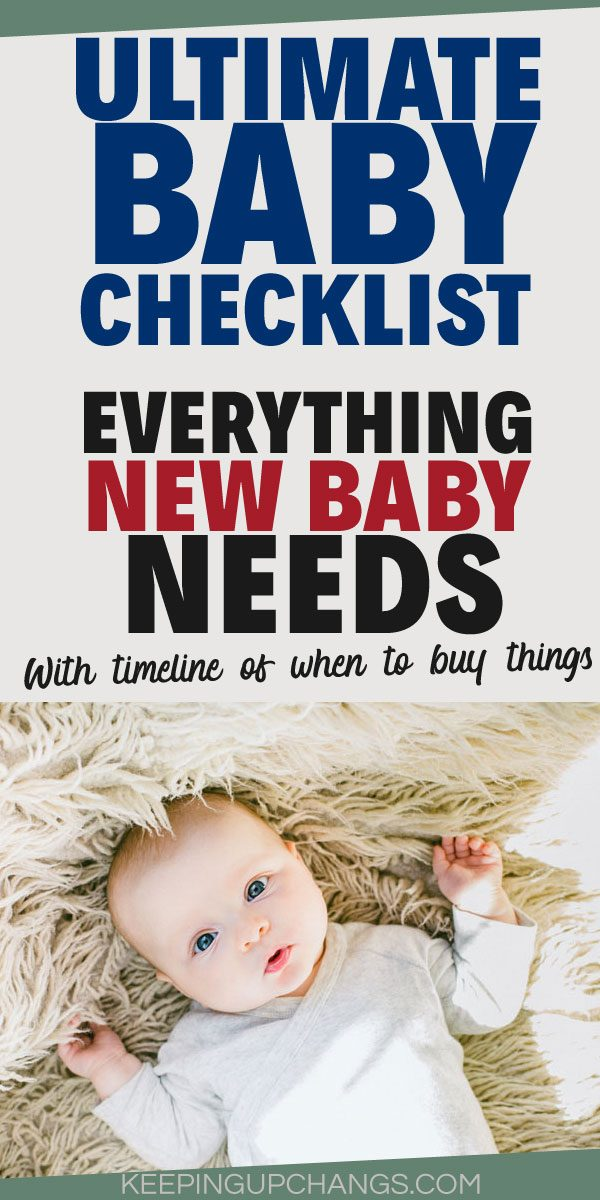ultimate baby checklist everything new baby needs