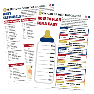 baby essentials checklist and baby savings plan worksheet tracker printable