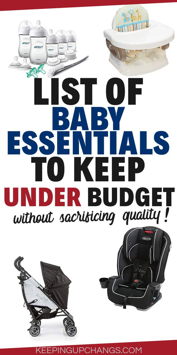 baby essentials - a checklist of things you need for a new baby (and stuff to totally ditch)