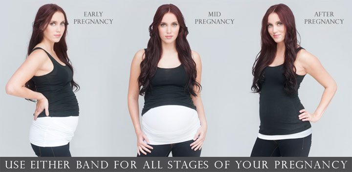 cheap, inexpensive maternity clothes hack - belly button band