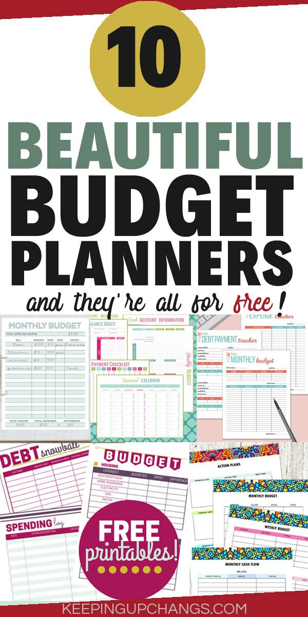 budget planners to stick to your money goals