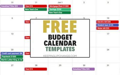 How to Use a Free Budget Calendar to Streamline Bill Payments