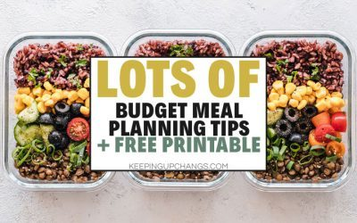 Meal Planning on a Budget [Free Budget Meal Planner Template]