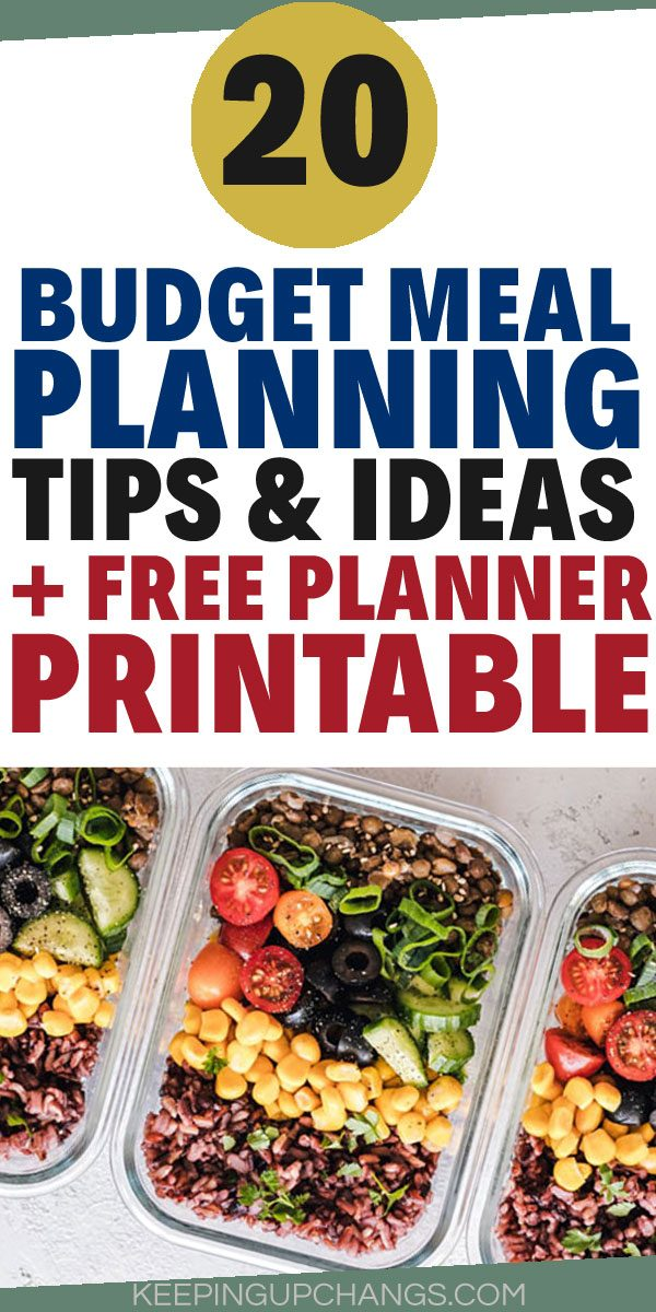 budget meal planning tips and ideas with free planner printable