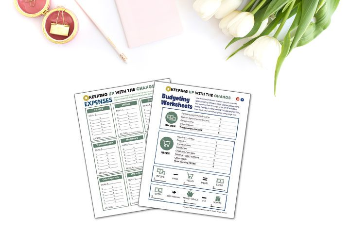 Simple Budget Worksheet [Free Printable]