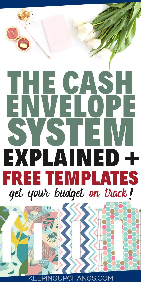 cash envelope system explained and free templates
