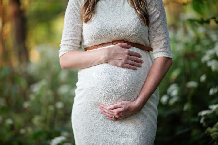 cheap, inexpensive maternity clothes on a budget - white dress