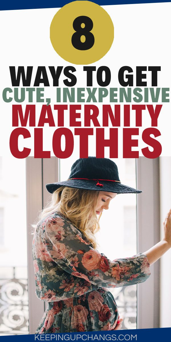 maternity clothes on a budget that look good