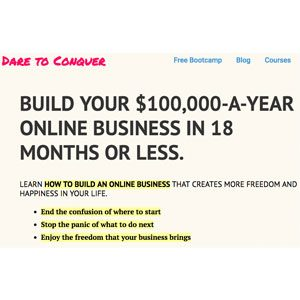 dare to conquer blogging resource homepage