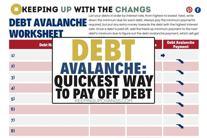 Debt Avalanche: How-to + Free Calculator App & Worksheet Printable