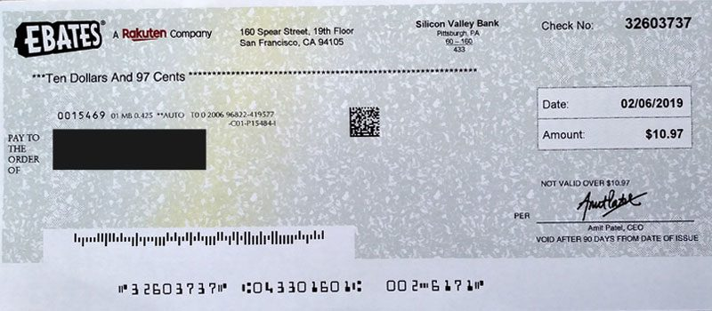 ebates review earnings check