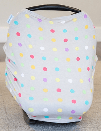 free baby stuff - car seat stretch cover with polka dots