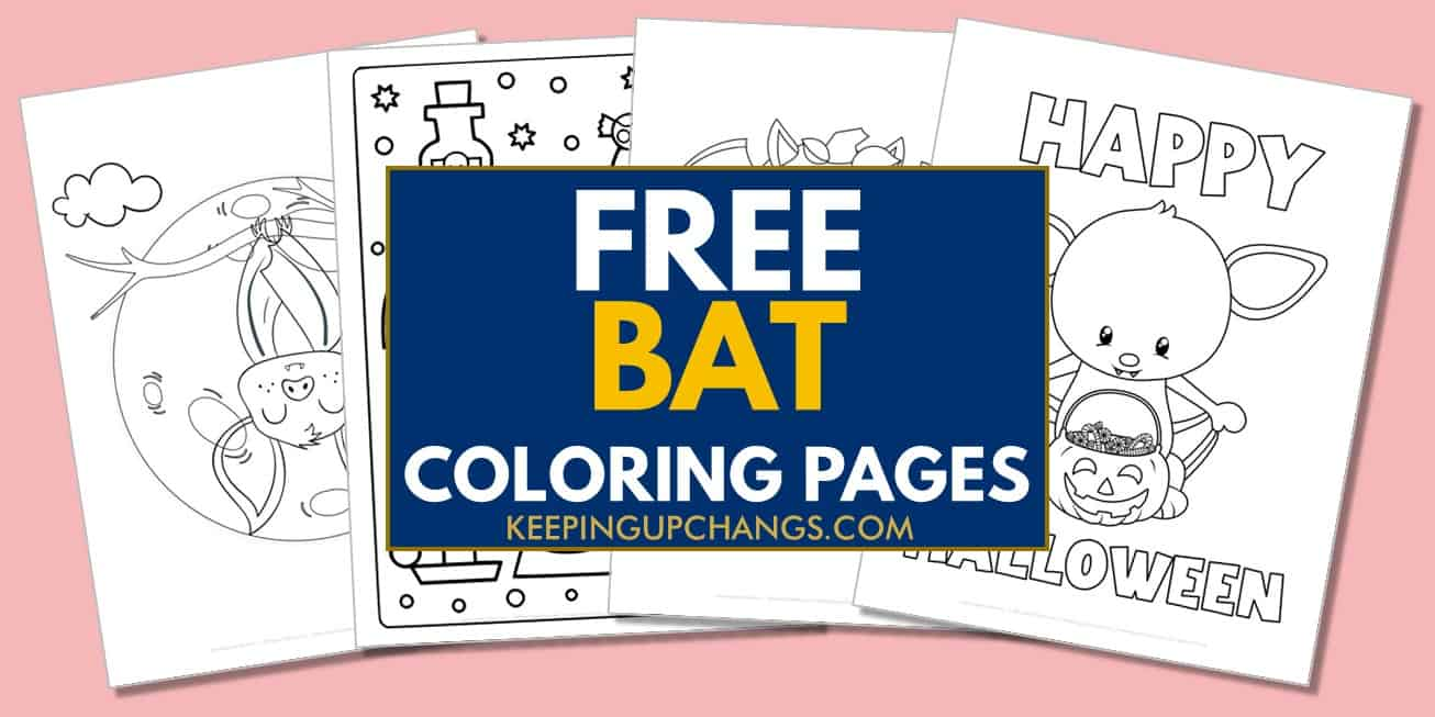 spread of free bat coloring pages.