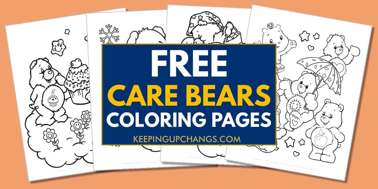 spread of free care bears coloring pages.