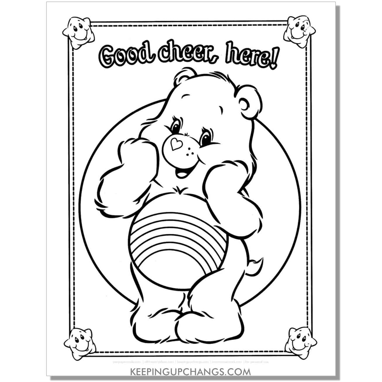 cheer care bear coloring page.