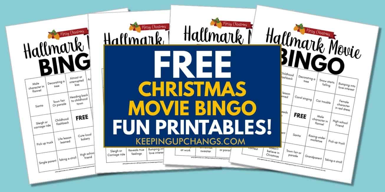 free hallmark christmas movie bingo for movie marathon..