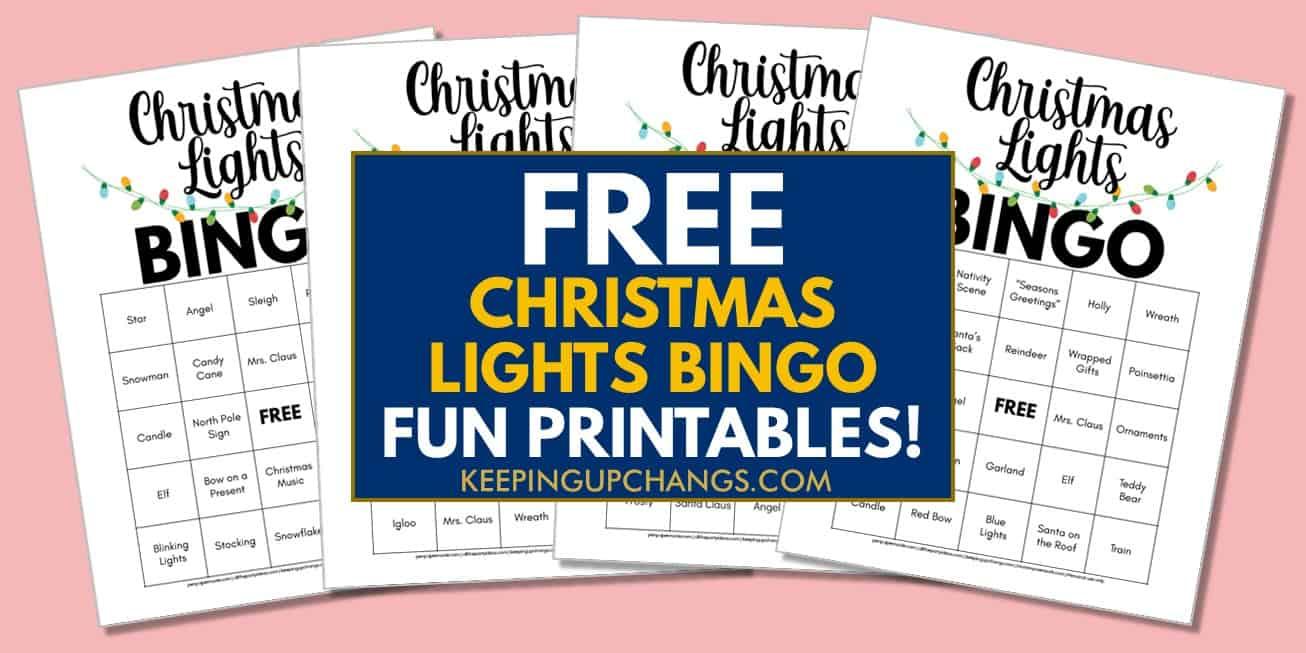 free christmas lights scavenger hunt bingo for family bonding activity.