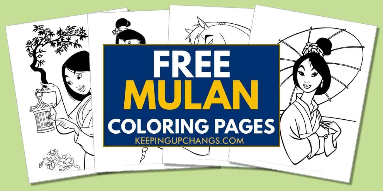 spread of free disney princess mulan coloring pages.