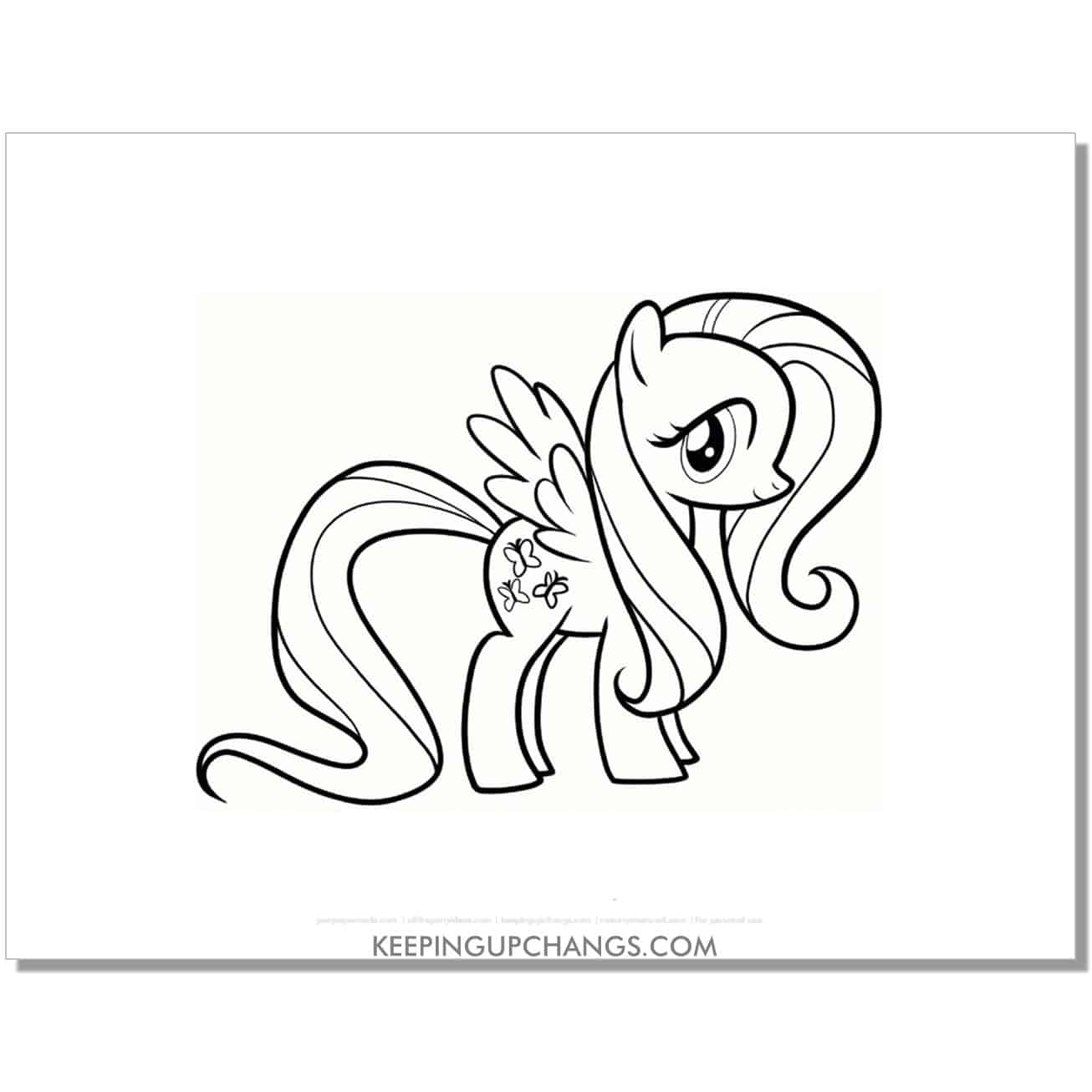 free butterfly cutie mark my little pony coloring page.