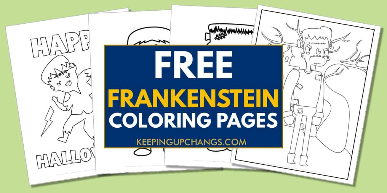 spread of free frankenstein coloring pages.