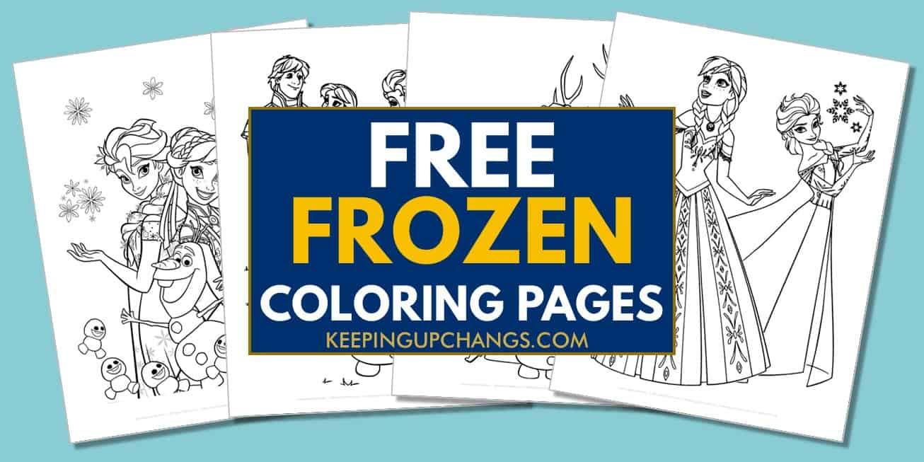 spread of free frozen elsa, anna coloring pages.