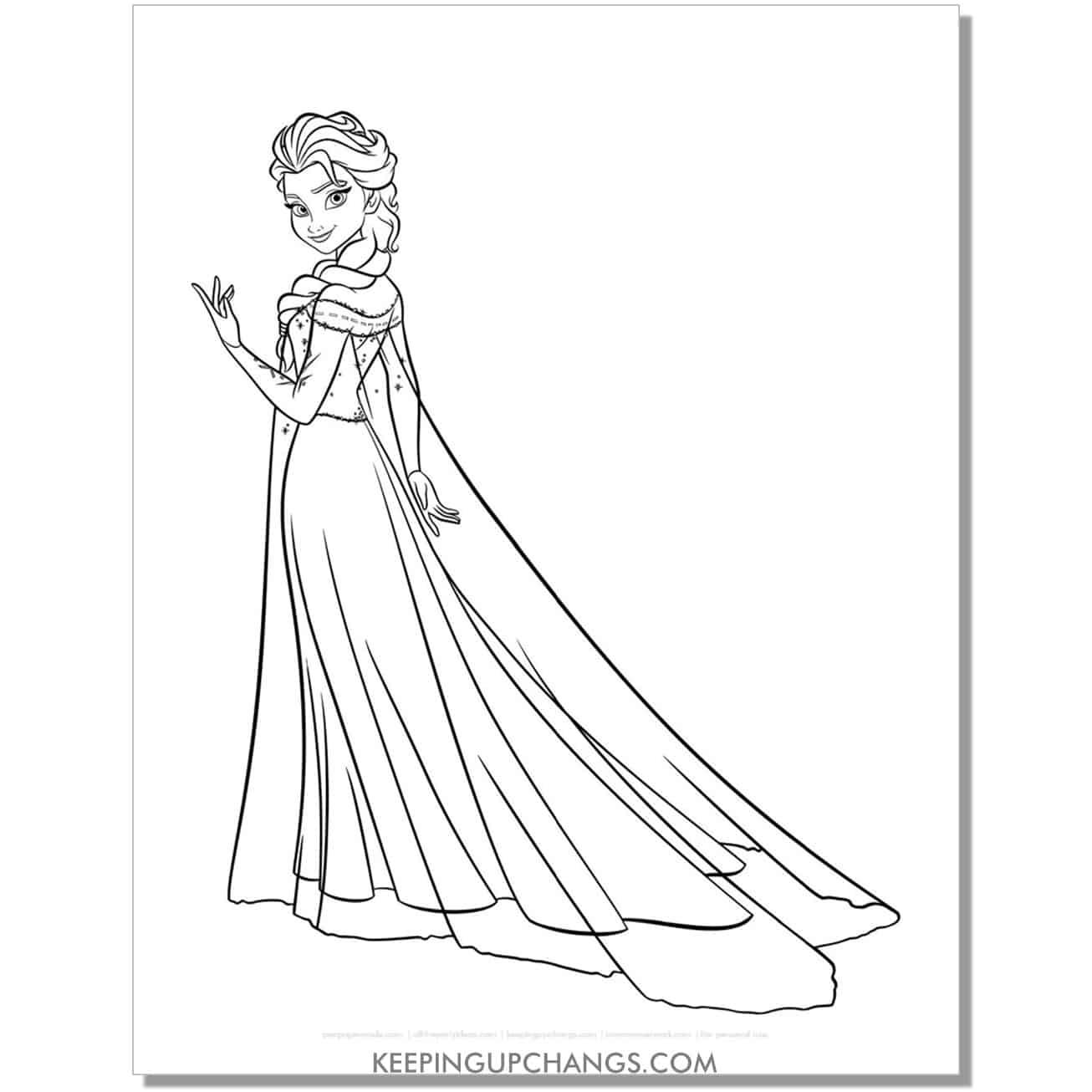 free disney princess elsa let it go frozen coloring page.