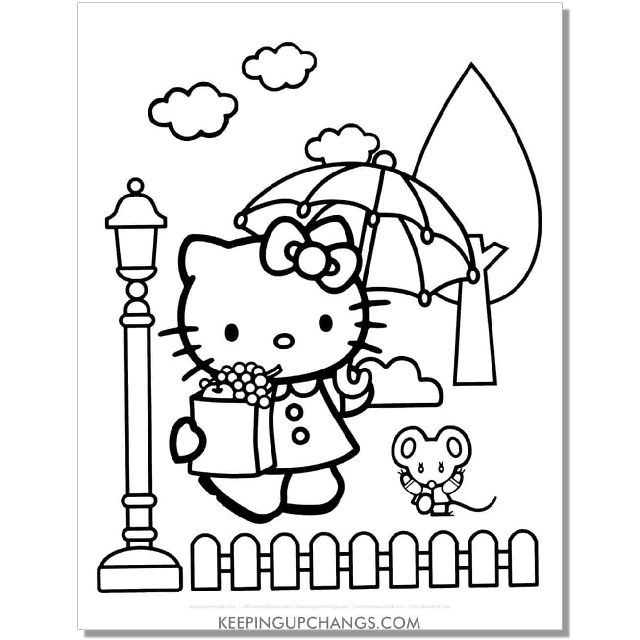london tourist hello kitty coloring page.