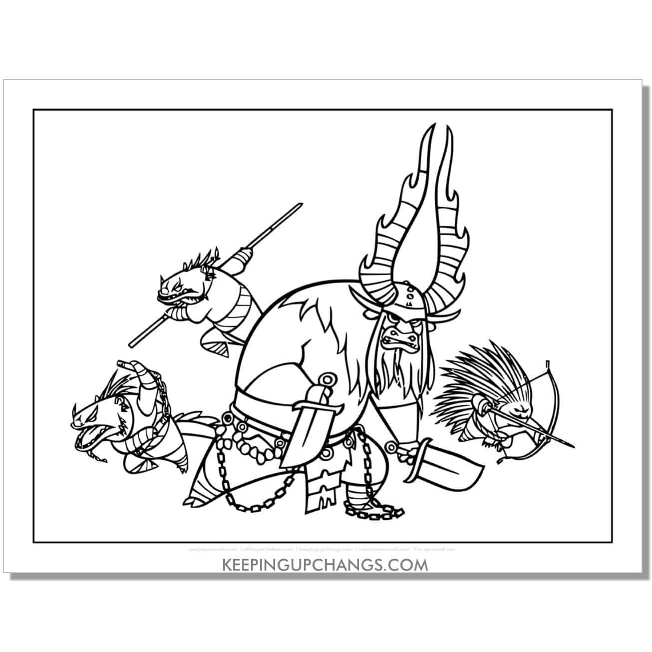 free kai the villian coloring page.