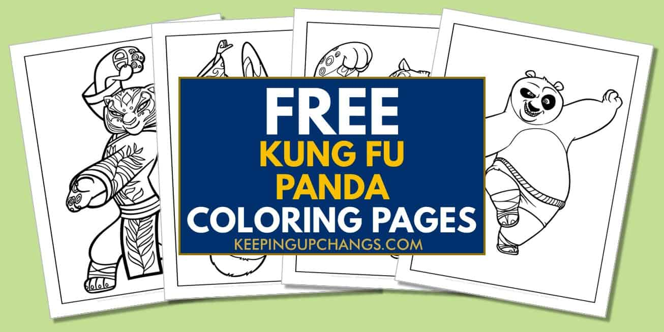 spread of free kung fu coloring pages.