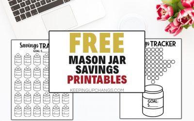 Mason Jar Savings Challenge + Free Savings Jar Printable