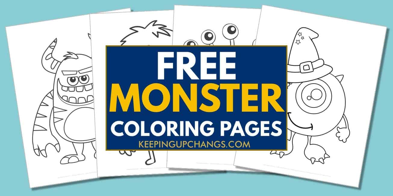 spread of free monster coloring pages.