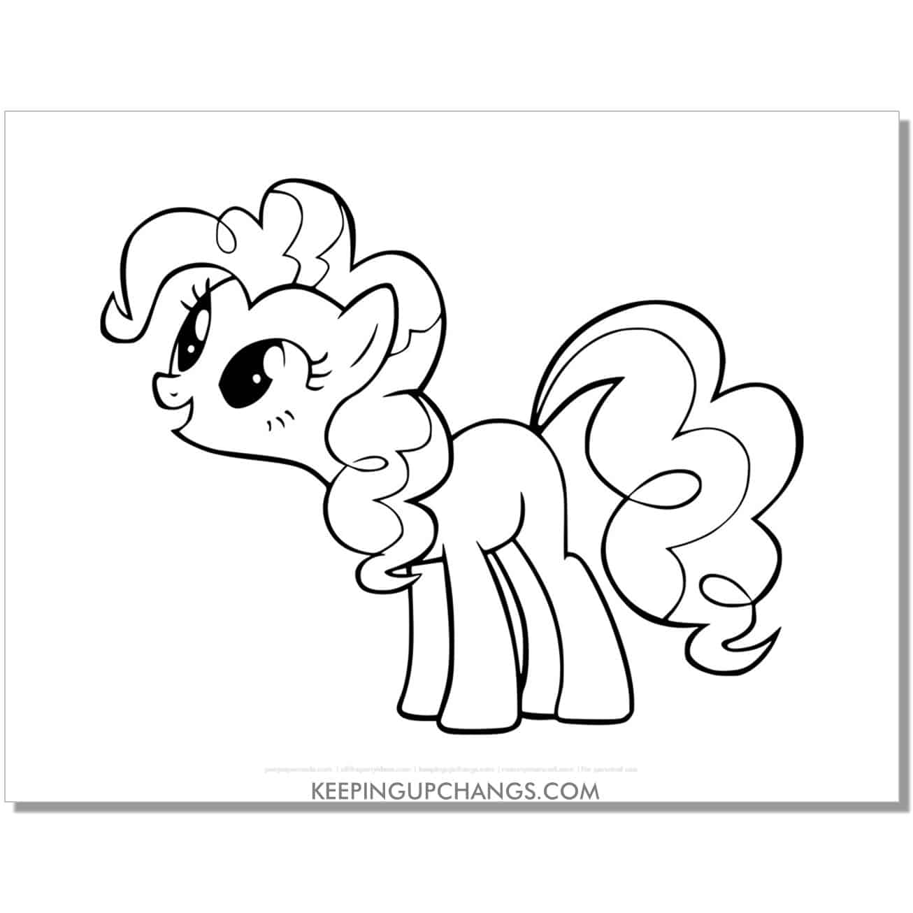 free balloon cutie mark my little pony coloring page.