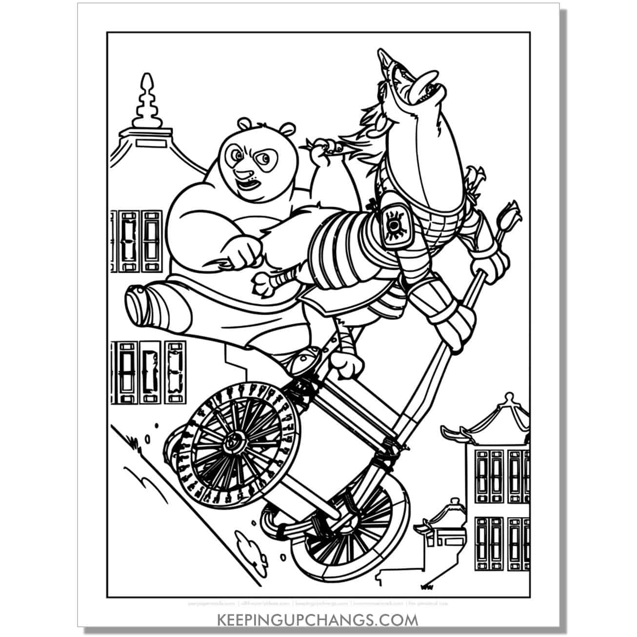 free po fighting for justice kung fu panda coloring page.