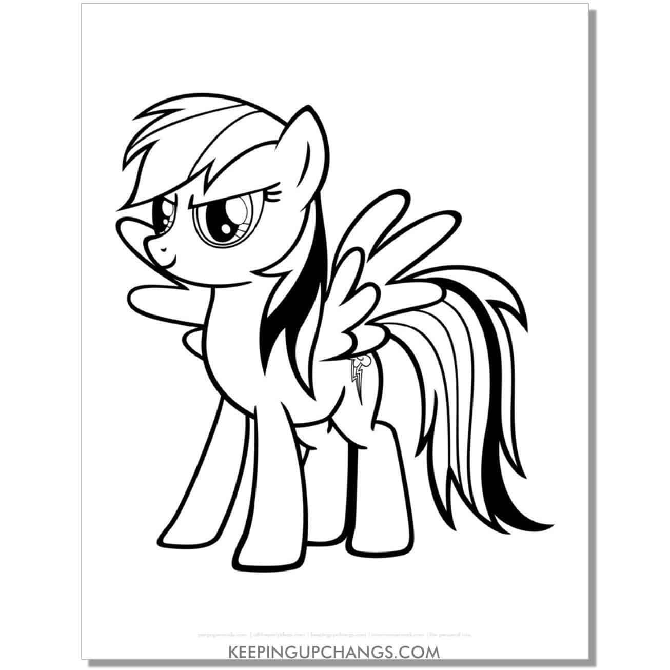 free lightning cutie mark my little pony coloring page.