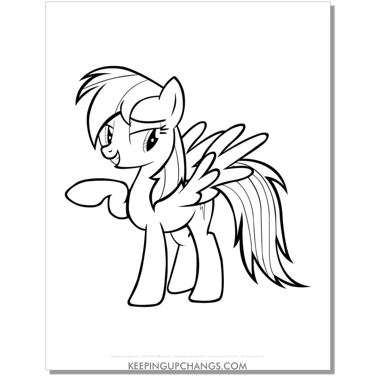 free cloud cutie mark my little pony coloring page.