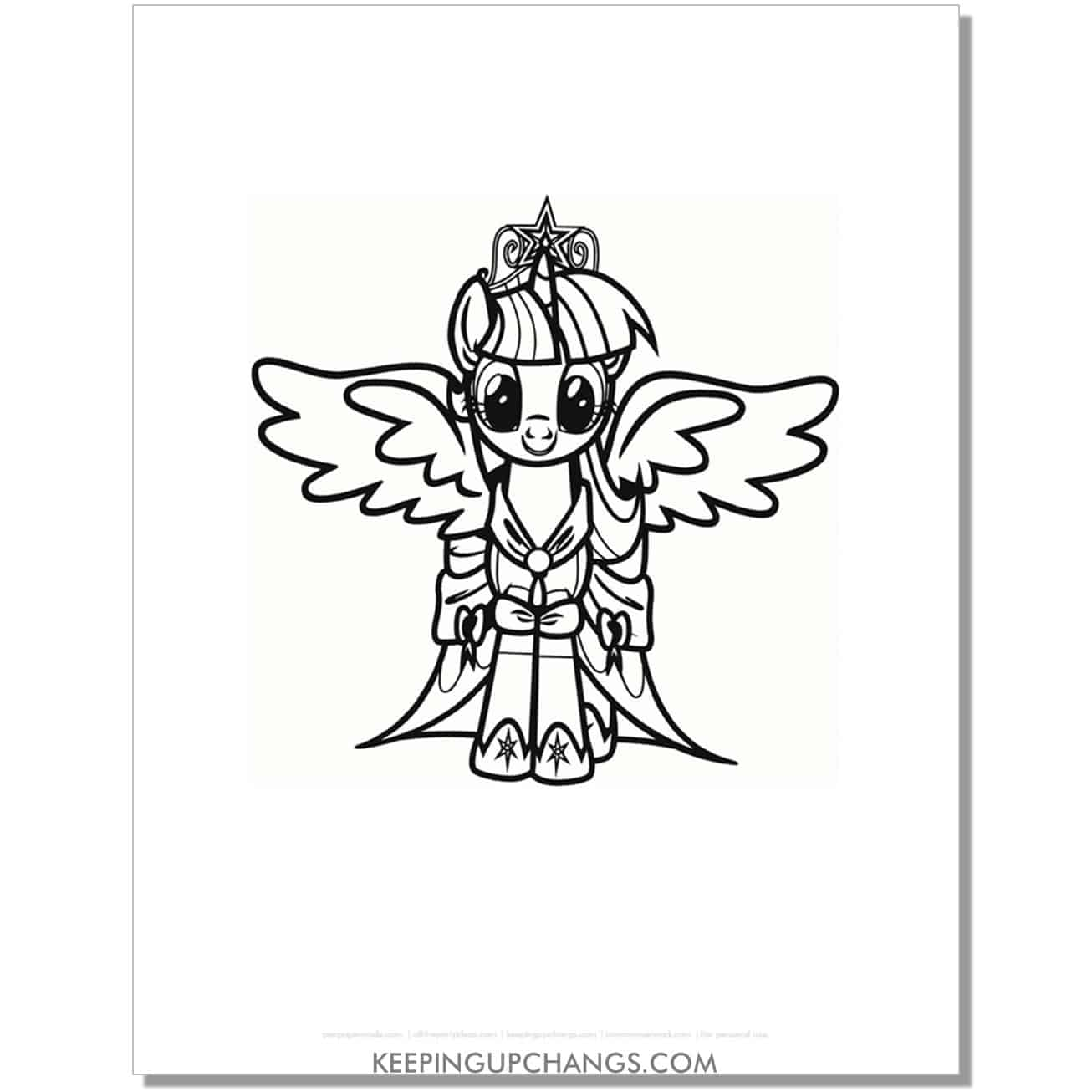 free star sparkle cutie mark my little pony coloring page.