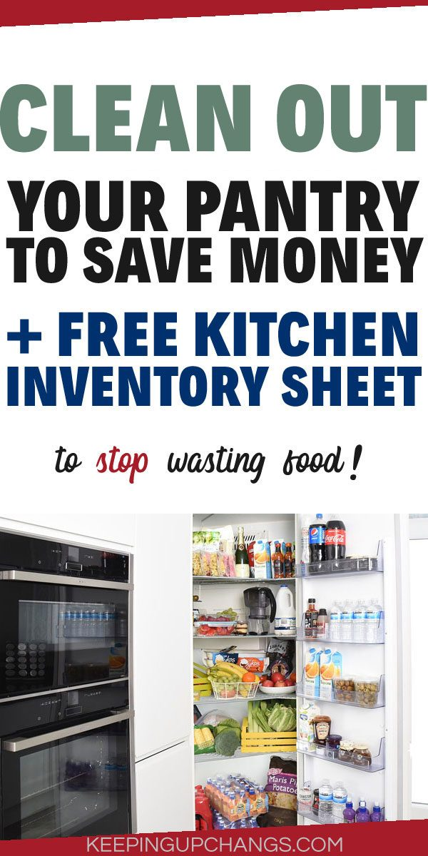 freezer inventory fridge pantry with free inventory sheet printable