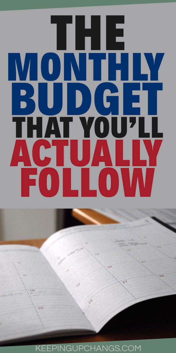 how to make a monthly budget you will actually follow