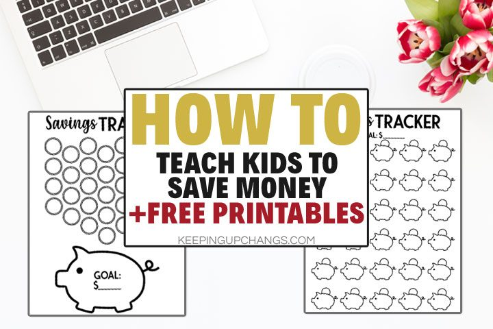 How to Teach Kids about Money [Free Piggy Bank Printable]