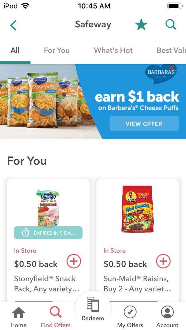 ibotta app review screenshot - lots of rebates available