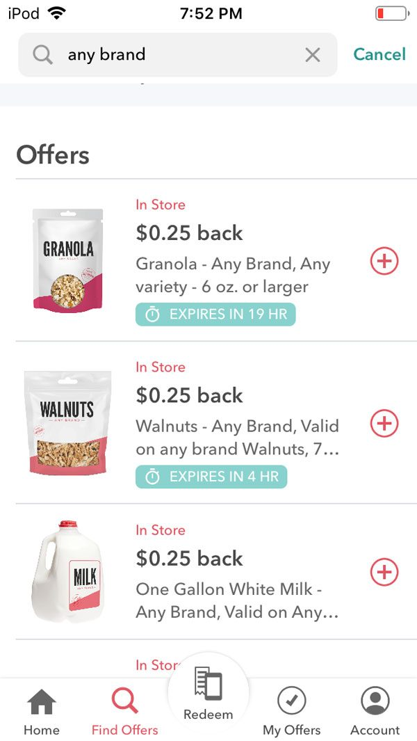 ibotta app review screenshot any brand any item rebate
