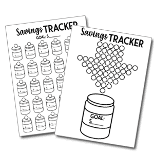 mason savings jar tracker