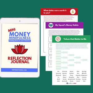 money mindfulness personal finance reflection journal