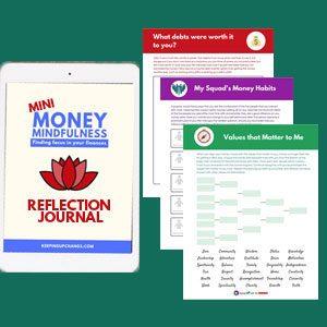 money mindfulness personal finance reflection journal