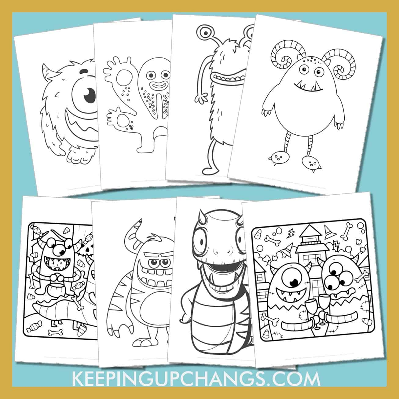 monster colouring sheets including cute, scary, realistic creatures and more.