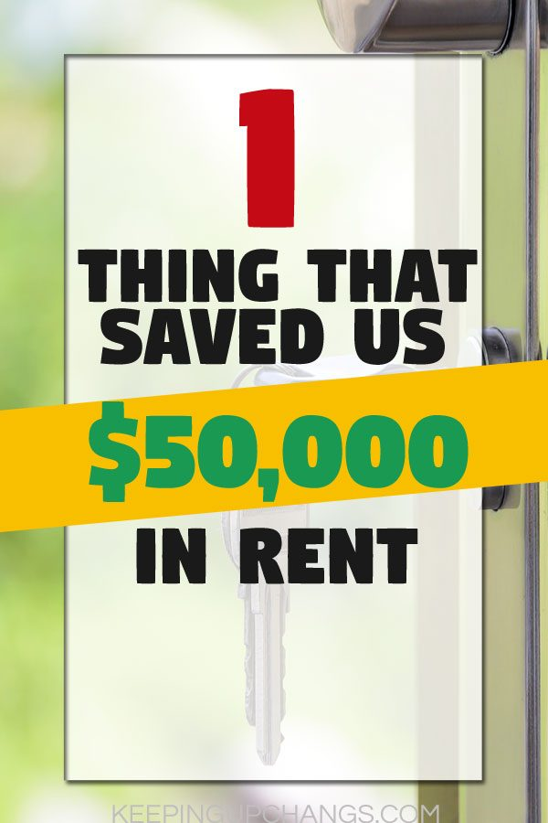 moving back in living with parents - one thing that saved us $50,000 in rent key in keyhole