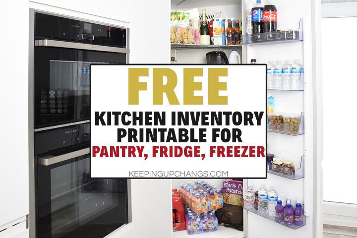 How to Take Freezer, Fridge, Pantry Inventory [Free Printable Sheet]