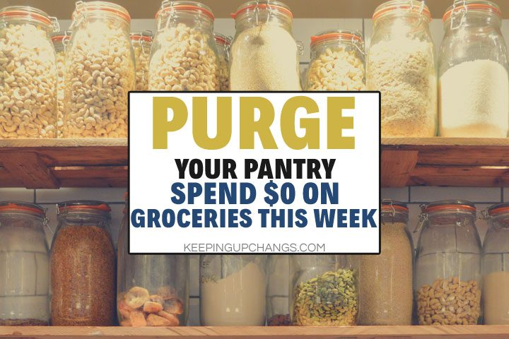 Purge the Pantry: Challenge to Reduce Food Waste