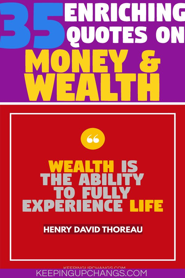 enriching quotes on money and wealth
